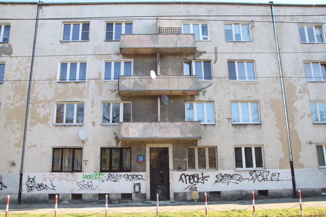 Budynek przy Mickiewicza 26 przed remontem w 2018 roku