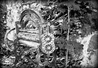 Photo: Zahn der Zeit nagt an der alten Wäschemangel