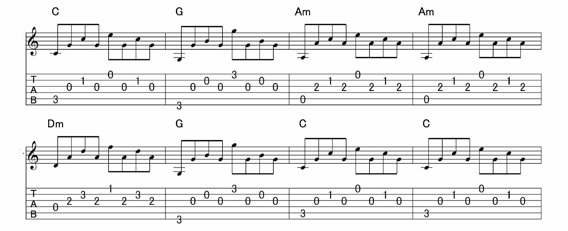 アルペジオの練習:パターン3