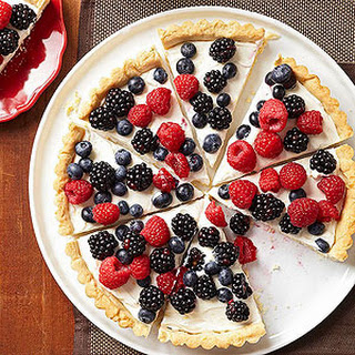Berry Tart with Lemon Cookie Crust.