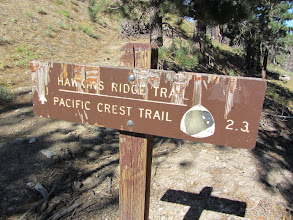 Photo: Sign at South Mount Hawkins saddle