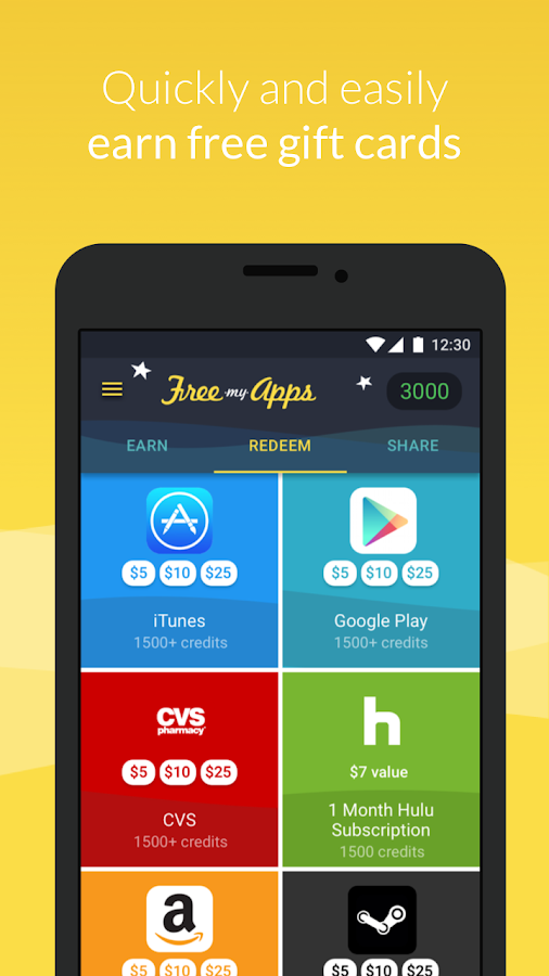 FreeMyApps - Gift Cards & Gems: captura de pantalla