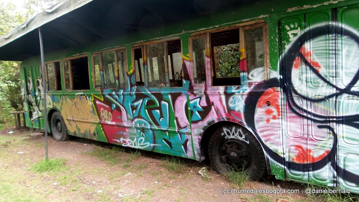 Grafitis en el ecobus