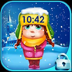 Let It Snow Lock Screen Pattern