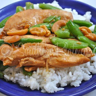 Slow Cooker Cashew Chicken Teriyaki