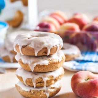 Vegan Peaches and Cream Doughnuts