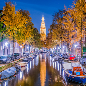 Zuiderkerk by Benjamin Arthur - City,  Street & Park  Night ( capital cities, holland, amsterdam photographer, dutch, nederlandse fotograaf )