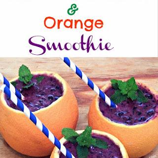 Wild Blueberries and Orange Smoothie.