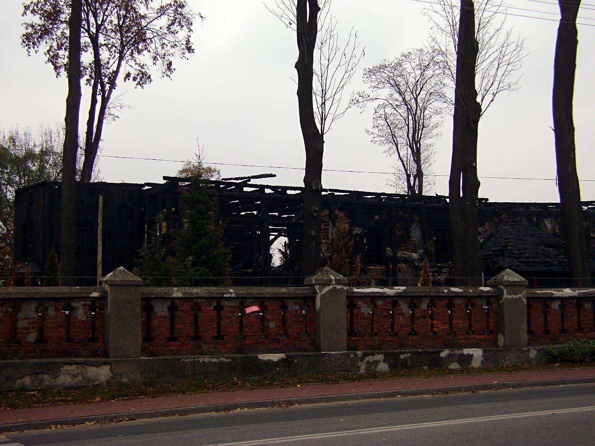 Mileszki, spalony kościół
