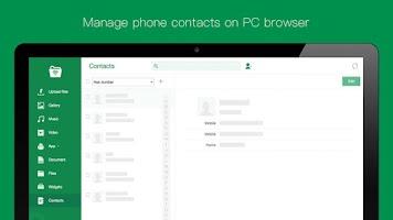 Screenshot of Web PC Suite - File Transfer