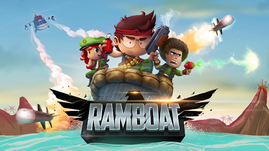 Ramboat - Jumping Shooter and Running Game Screenshot