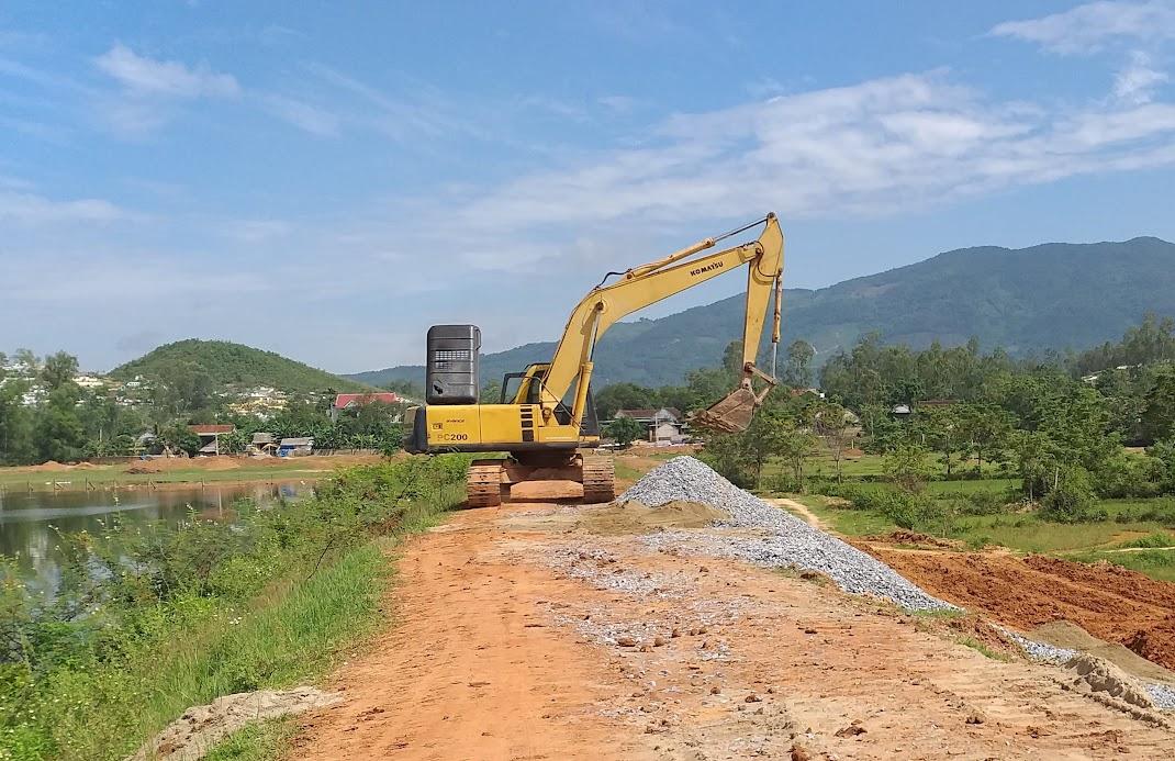 Một dự án chống hạn do Sở Nông nghiệp và Phát triển nông thôn làm chủ đầu tư triển khai tại xã Nam Thanh, huyện Nam Đàn