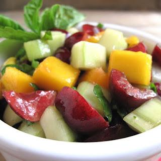 AIP / Paleo Cherry Mango Salsa.