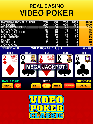 2021 Video Poker Classic Free Pc Android App Download Latest