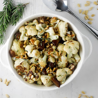 Roasted Cauliflower with Toasted Pine Nuts and Dates.