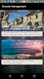 Disaster Management(Earthquakes,Weather Alerts!) - náhled