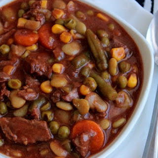Slow Cooker Beef and Vegetable Soup.