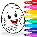 Easter Egg Coloring - Surprise Eggs Game For Kids icon