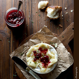 Baked Brie with Ginger Cardamom Raspberry Jam