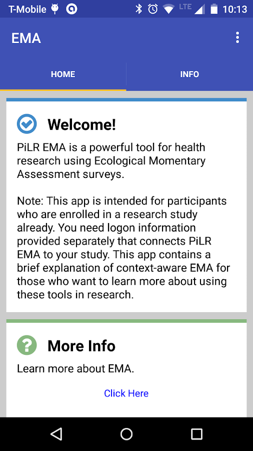 PiLR EMA- screenshot