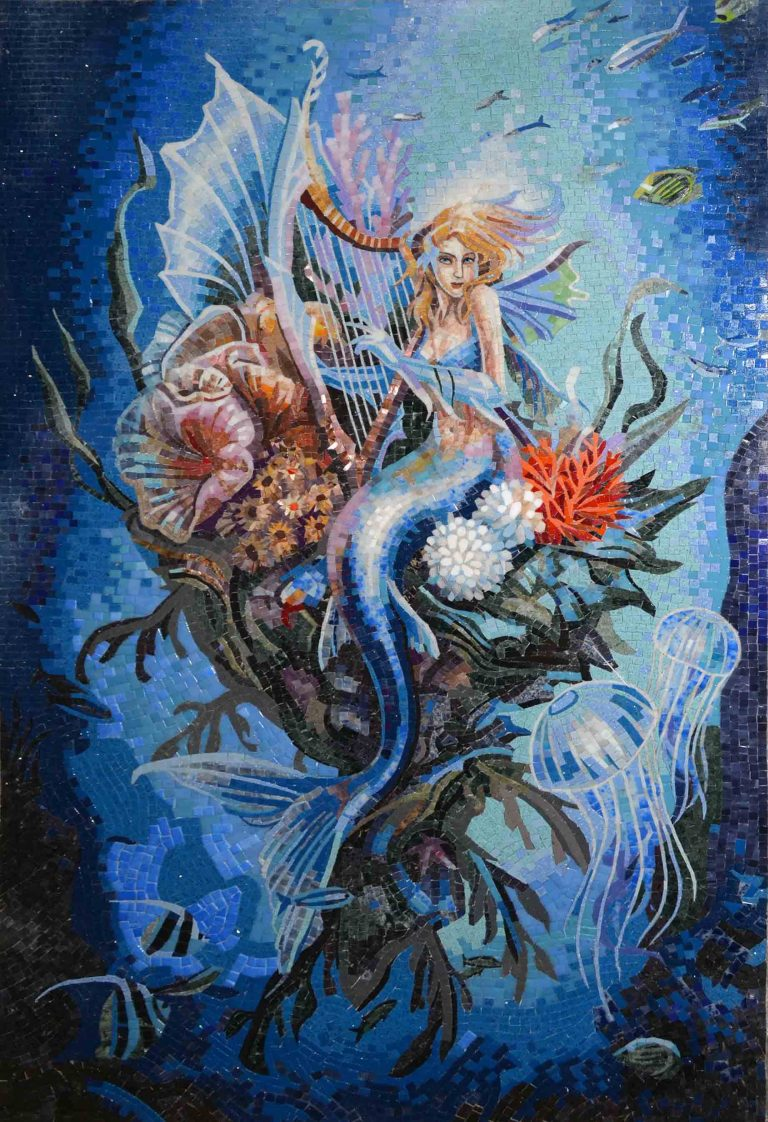 Mermaid Lullaby Mosaic Design by Mozaico