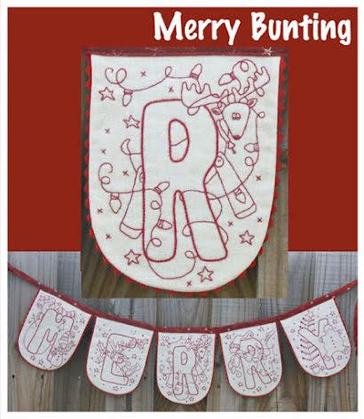Merry Bunting, inkl förtryckt linnetyg (13024)