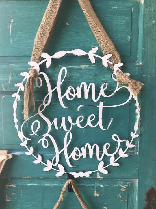 Studio 29 Eleven metal sign home sweet home