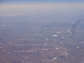 Photo: These are oil wells seen while flying between SAT and PHX on Wednesday. They are between  Ozona and Barnhart, TX.