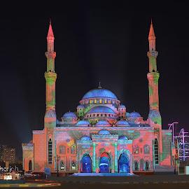 The glorious Noor Masjid by Irfan Tayab - Buildings & Architecture Places of Worship ( uae, noor masjid, sharjah light festival, sharjah )