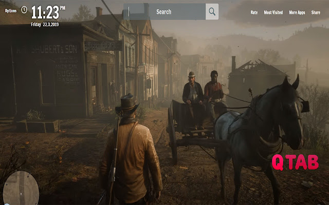 RDR2 New Tab Game Wallpapers
