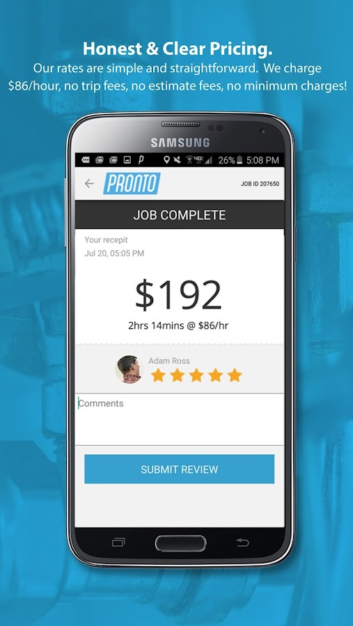 pronto app home repairs android apps on google play