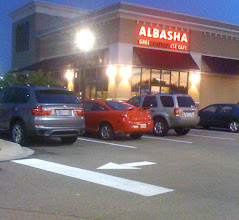 Photo: FINISHED STOP BAR AND ARROW AT ALBASHA IN HAMMOND SQUARE