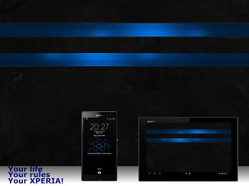 Тема eXPERIAmz - Premium blue