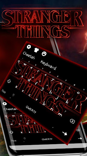 Stranger Thing Keyboard Theme Neon Red Wallpaper for PC