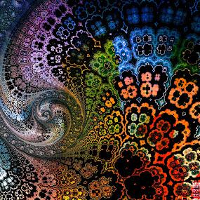 Fractal Garden by Amanda Moore - Illustration Abstract & Patterns ( digital art, fractal art, fractal, digital, fractals )
