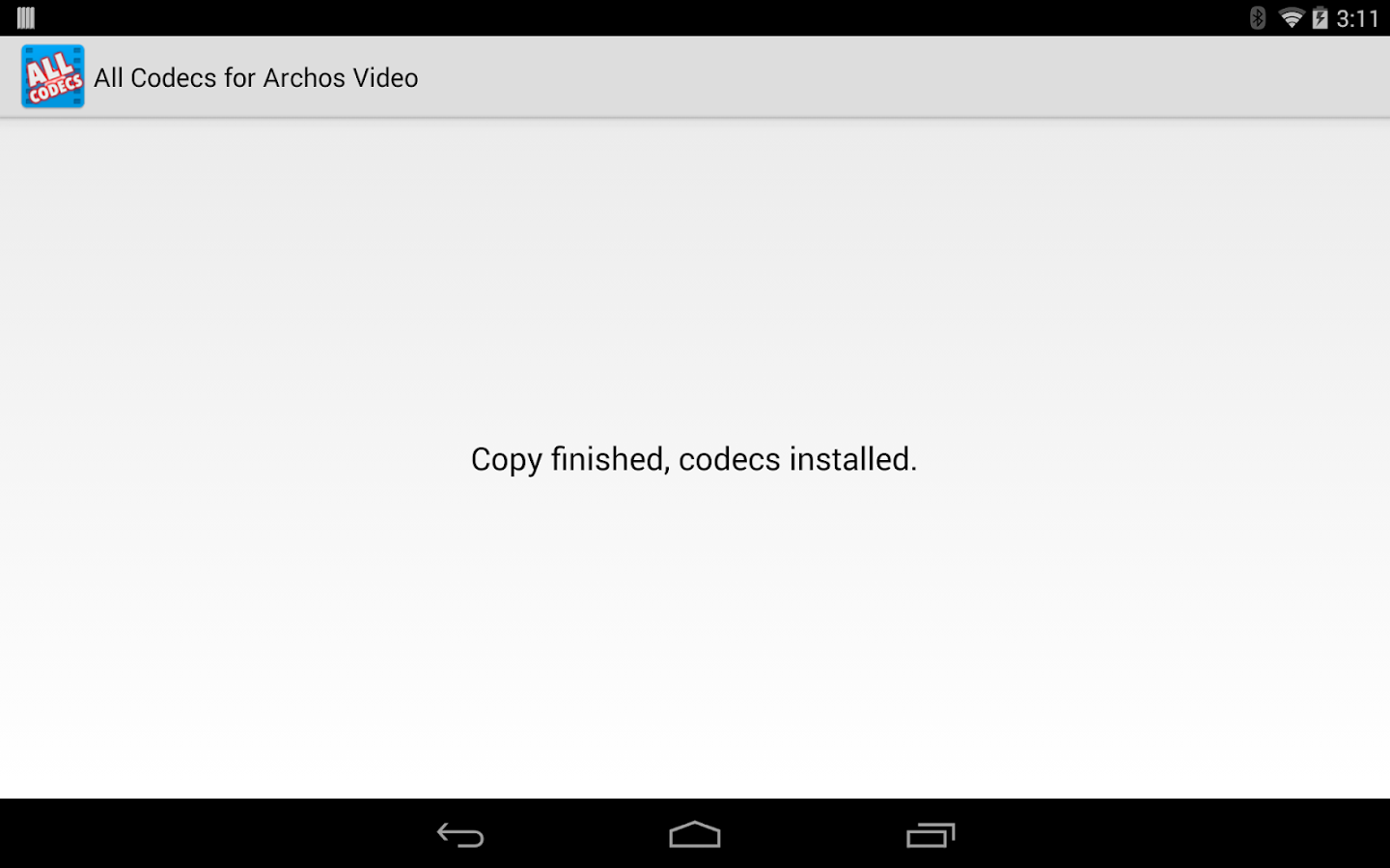 All codecs for Archos Video - screenshot