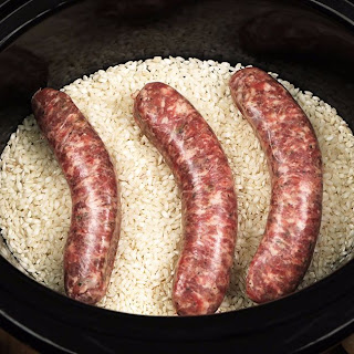 Slow Cooker Sausage Risotto.