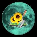 Lunar Calendar. Garden icon