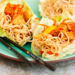 Chicken Chow Mein Cabbage Wraps.
