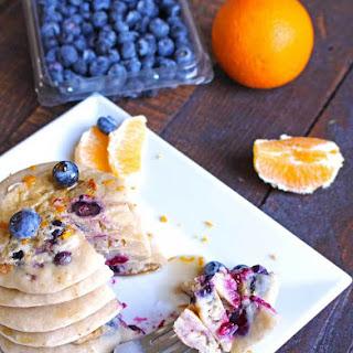 Vegan Blueberry Orange Pancakes