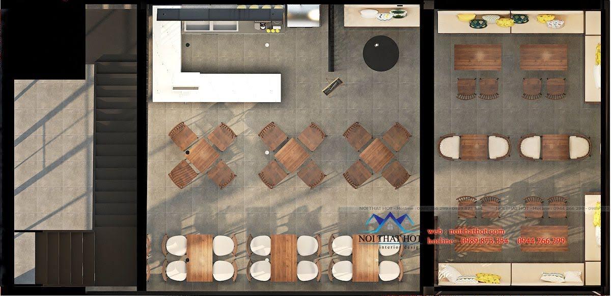thiết kế quán trà sữa cafe và siêu thị 6