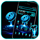 Blue Technology Launcher Theme Android APK Download Free By ThemesDesignStudio