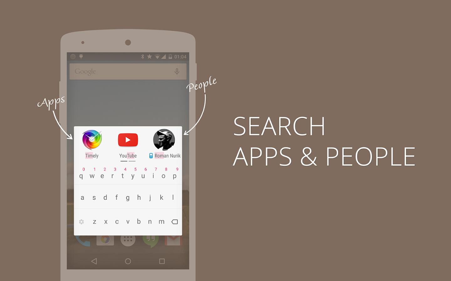 AppDialer T9 app/people search - screenshot