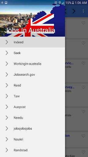 Job vacancies in Australia screenshot