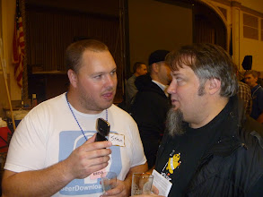 Photo: Steve interviews Chris Knight