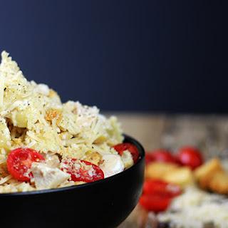 5 Minute Chicken Caesar Pasta Salad.