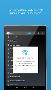 SurfEasy: Free VPN for Android- screenshot thumbnail