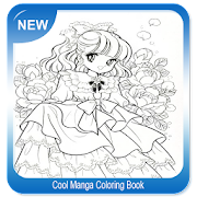 Cool Manga Coloring Book