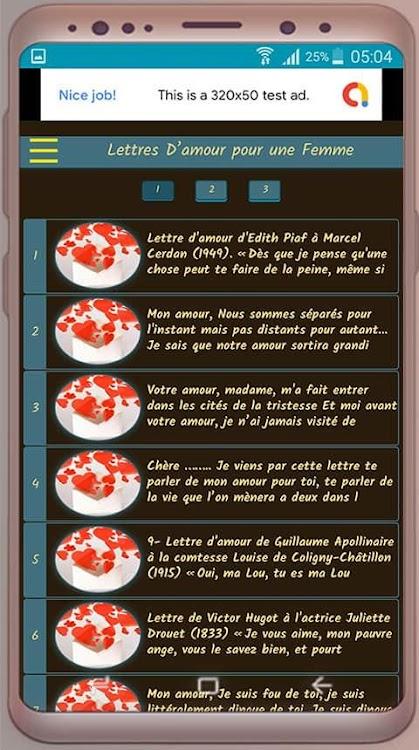 Lettres Damour Pour Une Femme Messages Damour Android
