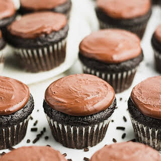 Small Batch Mini Chocolate Cupcakes.